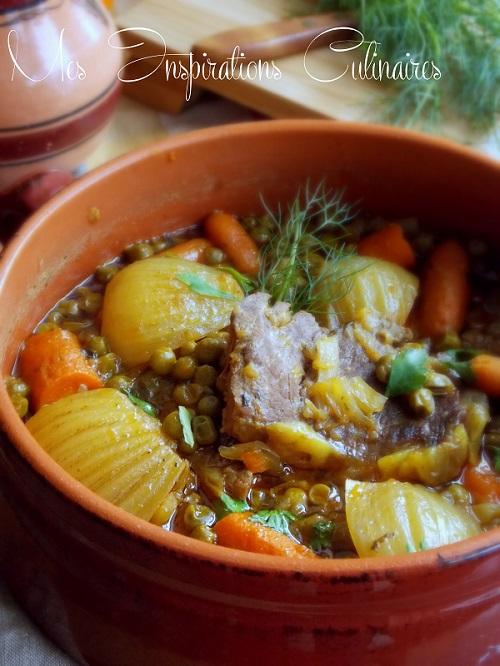 Tajine de fenouils aux carottes & petits pois