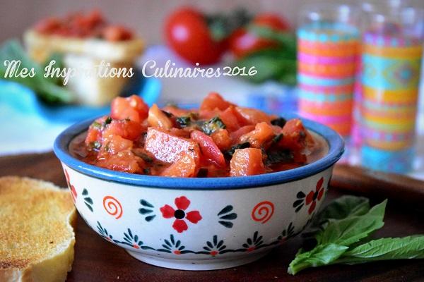 Recette Bruschetta tomate et basilic