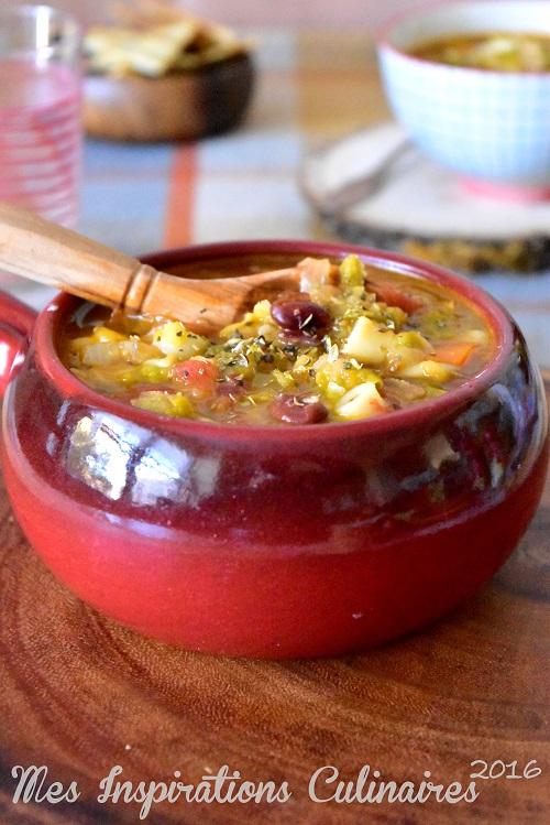 Recette Minestrone soupe italienne