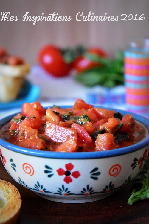Bruschetta tomate et basilic