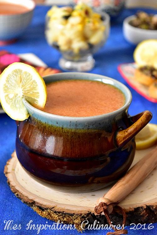 soupe de semoule kabyle au piment rouge