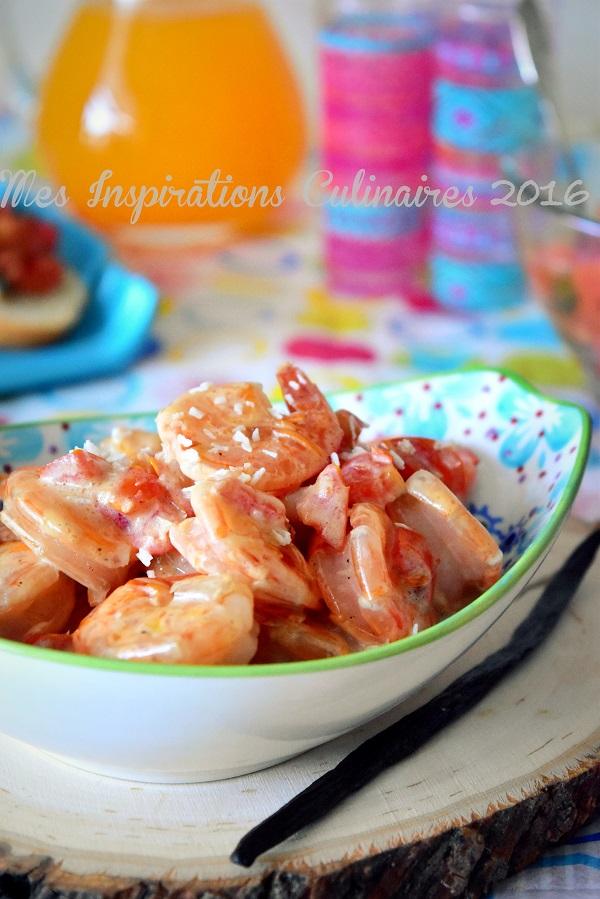 crevettes sauce a la vanille coco a la tahitienne 1