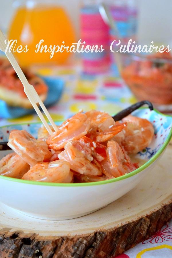 crevettes sauce a la vanille et coco 1