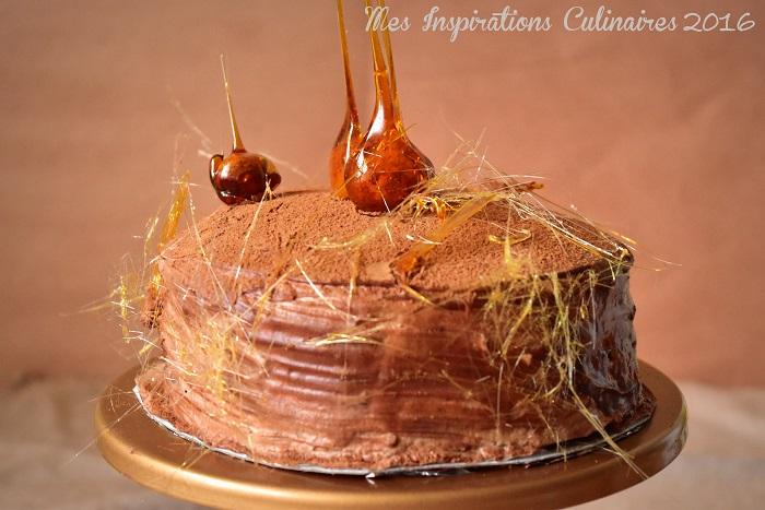 Gâteau de crêpes au chocolat facile