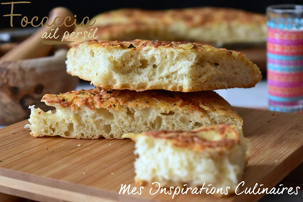 Recette Focaccia à l'ail persil & fromage