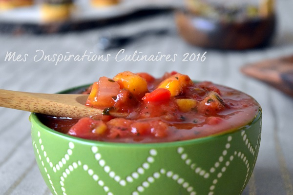 Salsa mexicaine {tomate et mangue}