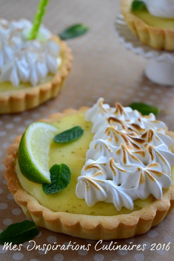 Tartelettes au citron vert façon Mojito