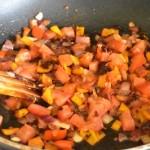 ajouter tomate en cubes