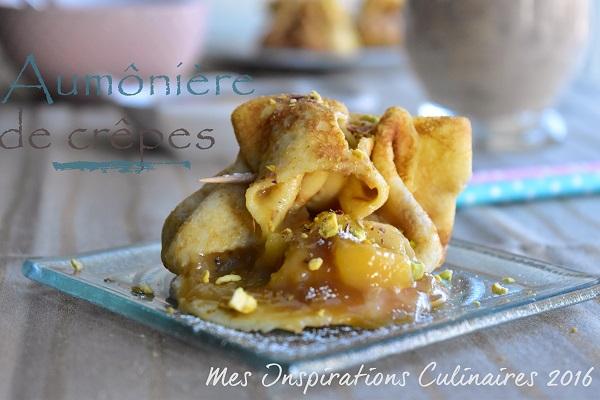 Crêpes en Aumônière aux pommes
