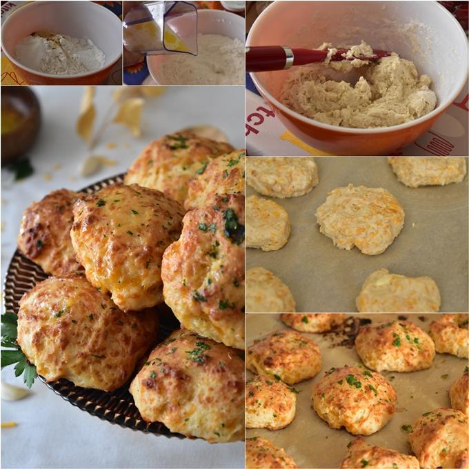 Biscuits salés au cheddar et babeurre