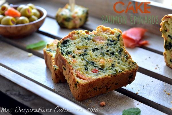 Cake au saumon et aux épinards