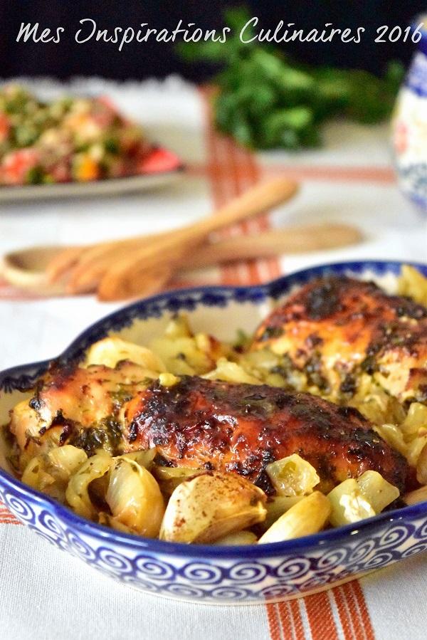 Cuisses de poulet au four au miel