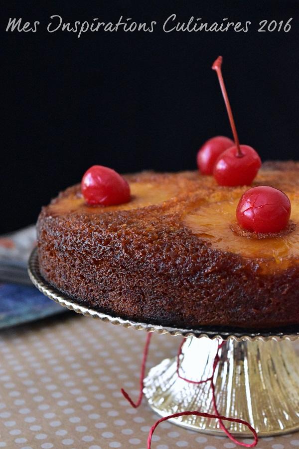Gâteau renversé à l'ananas : recette facile