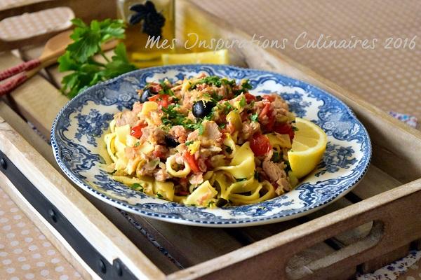 recette pates au thon olives et tomates