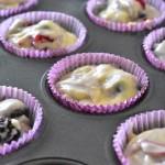 remplir les moules a muffins
