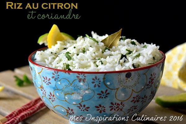 Riz au citron et à la coriandre