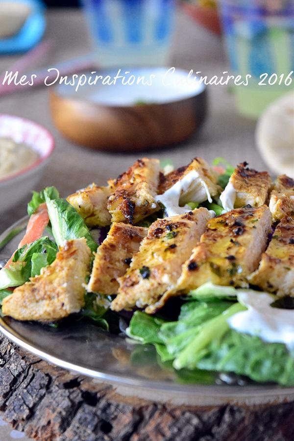 Recette Shawarma de poulet libanais