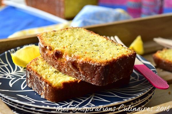Cake au citron & aux graines de pavot