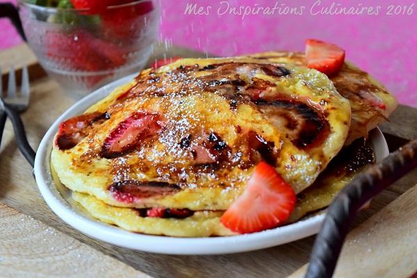 pancake aux fraises 1