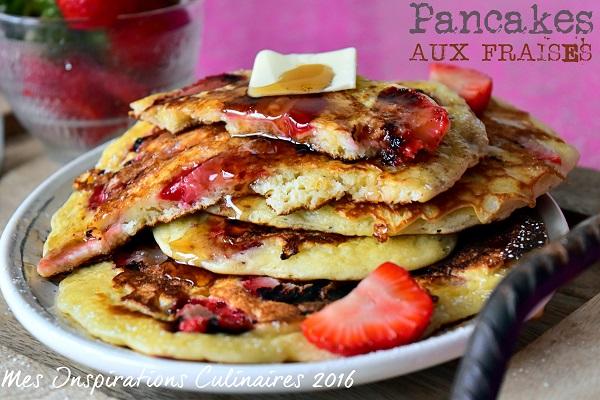 pancakes moelleux aux fraises 1