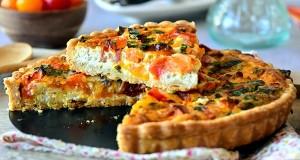 quiche tomate chevre et basilic 1