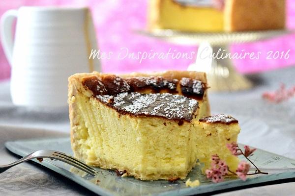 tarte au fromage blanc legere a la vanille