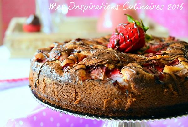 gateau moelleux aux fraises 1