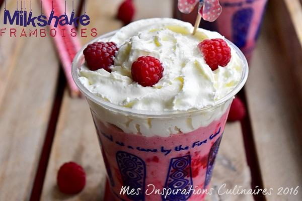 recette milk shake framboise chocolat blanc