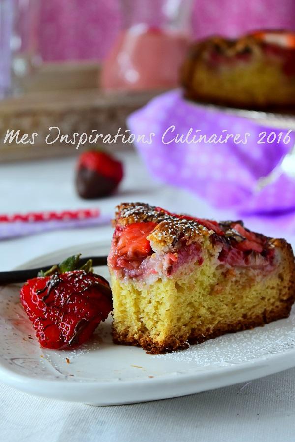 recette gateau moelleux aux fraises 1