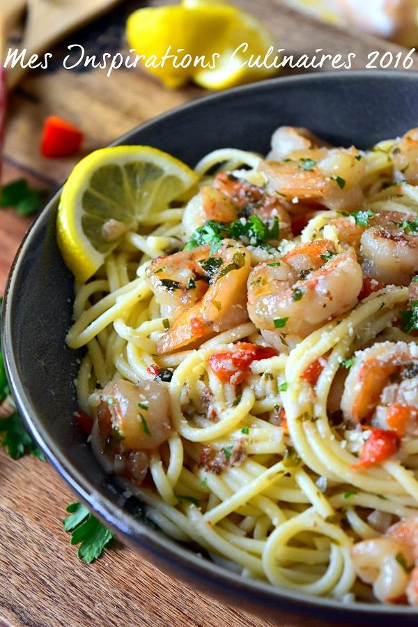 Crevettes Scampi / crevettes sauce au citron