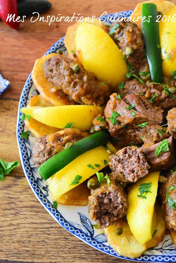tajine el merguez recette tunisienne a la viande hachee 1
