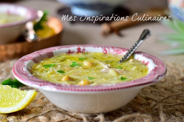 chorba beida {soupe algéroise sauce blanche}