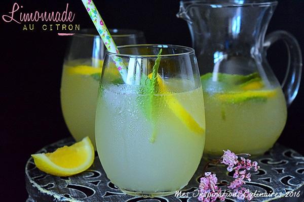 Limonade maison au citron