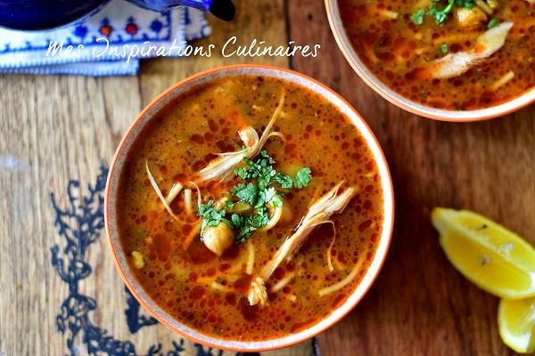 Chorba au poulet alg rienne le blog cuisine de samar - Recette de cuisine algerienne gratins ...