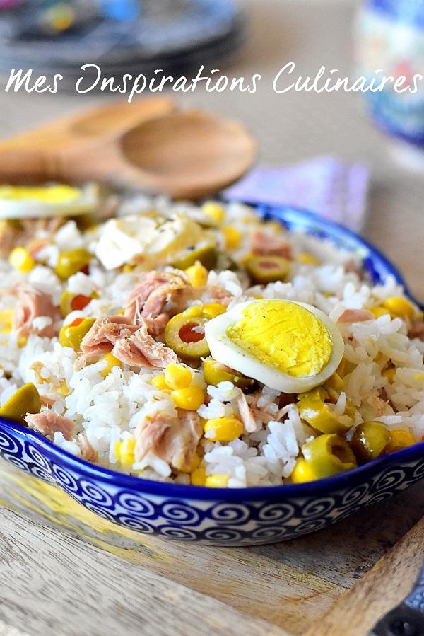 Recette Salade de riz light au thon