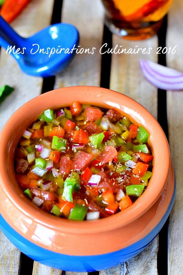Salsa Criolla Argentine (sauce Créole pour grillades)