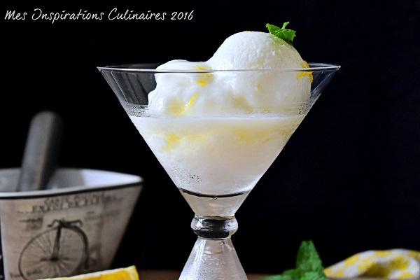 Sorbet à la Menthe fraîche et au citron