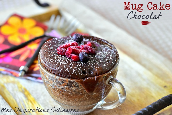 Mug cake au chocolat moelleux