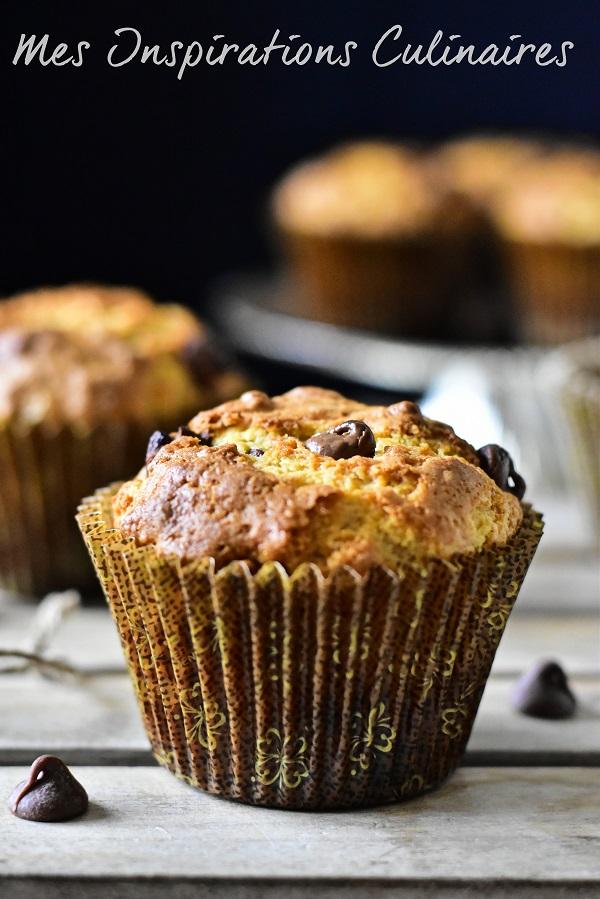 Muffins aux pépites de chocolat : Recette américaine