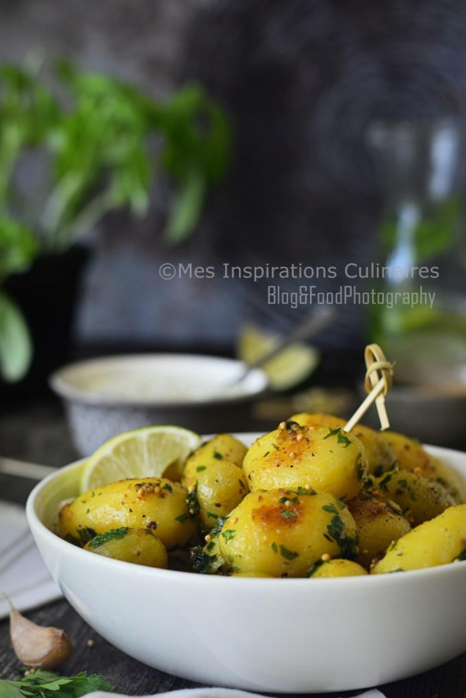 recette Pommes de terre sautées au persil et moutarde