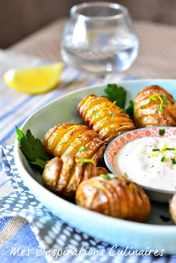 Pommes de terre rôties à la suédoise : Hasselback potatoes