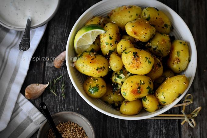 Pommes de terre sautées au persil et moutarde