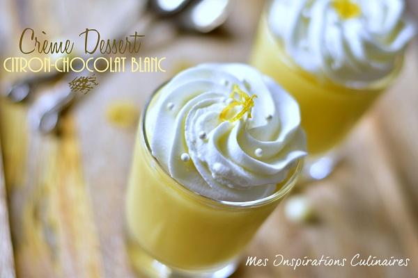Crèmes au citron et chocolat blanc
