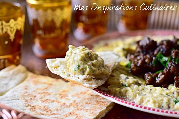 Mtabbal libanais (caviar d'aubergine au Tahini)