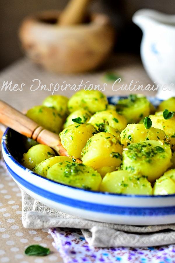 Recette salade de pomme de terre à la salsa Verde
