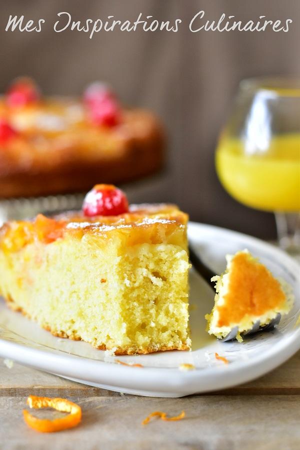 Gâteau renversé aux oranges caramélisées