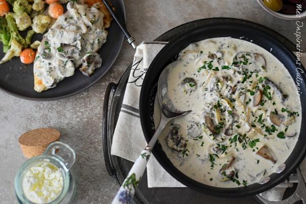 Sauce crémeuse aux champignons facile