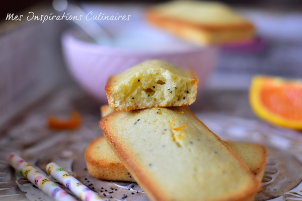 Recette financiers à l'orange