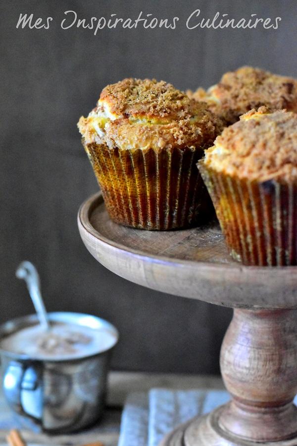 Recette muffins au streusel