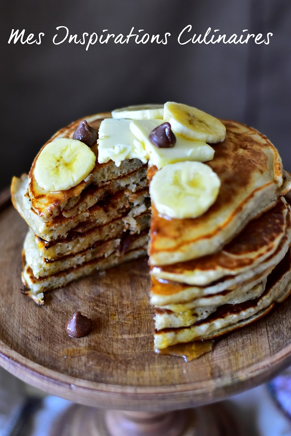 recette pancakes la banane le blog cuisine de samar. Black Bedroom Furniture Sets. Home Design Ideas